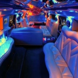 Inner space in the white limo- add a stripper to make it more luxury - Hummer H2 Limo Transfer