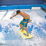Tired of slides? Try one of the other activites like surfing - Aqua Park