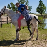 Getting on the horse - Puszta Olympics