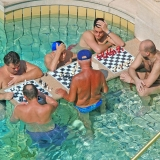 If you feel like palying chess you have the chance to do it in the bath - Turkish Thermal Bath