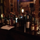 Wide selection of wines is available at the bar - Wine Tasting