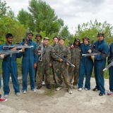 Lasertag players on an ex- Soviet military base - Laser Tag