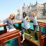 Party on the boat in front of the Parlaiment - Danube Luxury Limousine Boat