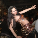 A belly dancer spices up the dinner - Medieval Dinner